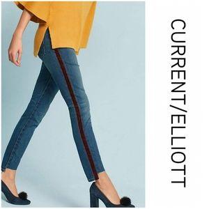 Current/Elliott The Stiletto Skinny Step-Hem Jeans